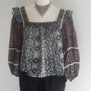 Free People Boho Long Sleeve NWT/Small